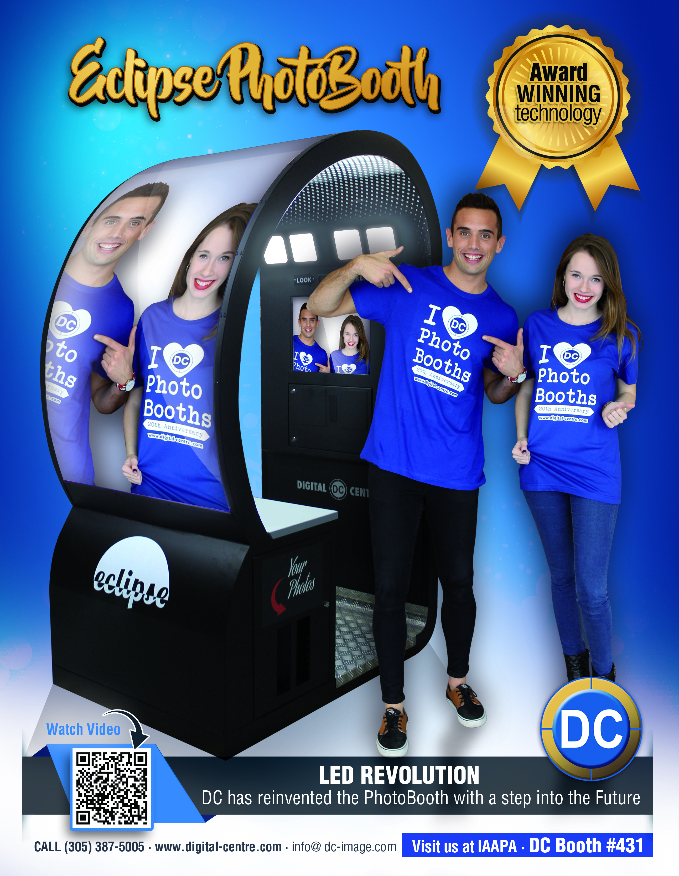 Brighten up your location with LED vW SC PhotoBooths.